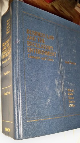Image for Business law and the regulatory environment: Concepts and cases (Lusk series)